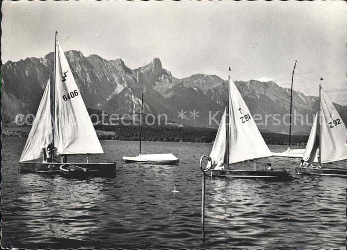 Thunersee Segelpartie mit Gantrisch und Stockhorn Kat. Thun