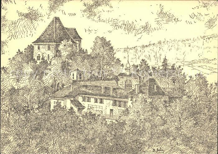Aargau Kanton Kuenstlerkarte Schloss Liebegg Kat. Aarau
