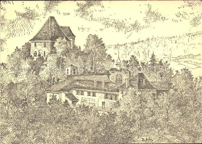 Aargau Kanton Schloss Liebegg Kuenstlerkarte Kat. Aarau