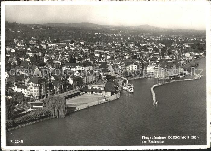 Rorschach Bodensee am Bodensee Hafen Dampfer Fliegeraufnahme / Rorschach /Bz. Rorschach