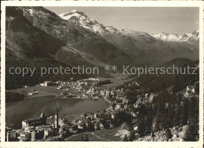 St Moritz GR und St Moritz Bad Panorama Kat. St Moritz