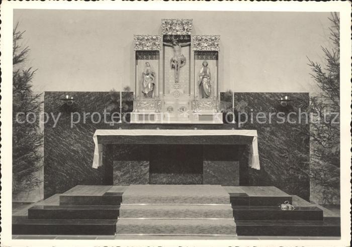 Arosa GR Kath Kirche Hauptaltar Kat. Arosa