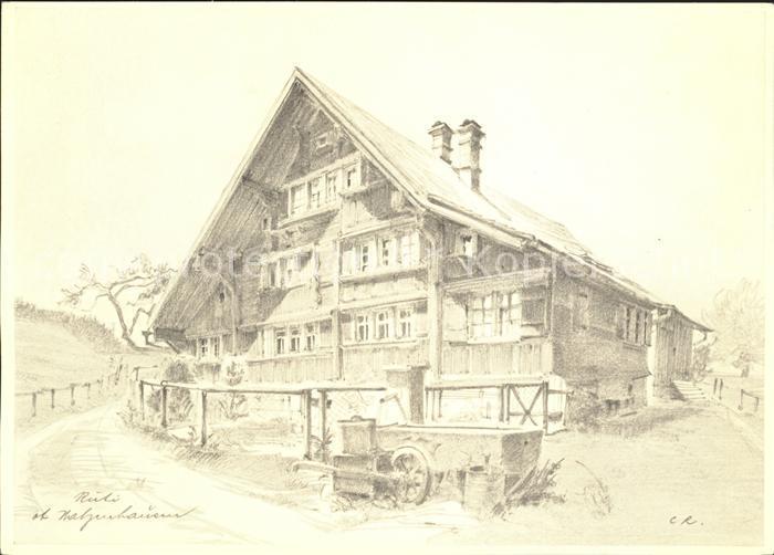 Rueti Walzenhausen AR Kuenstlerkarte Serie Schoenes Appenzellerland Kat. Walzenhausen
