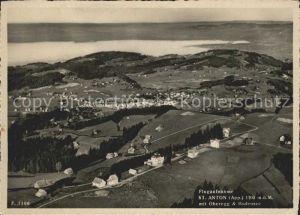 St Anton Oberegg Fliegeraufnahme mit Oberegg und Bodensee Kat. St. Anton