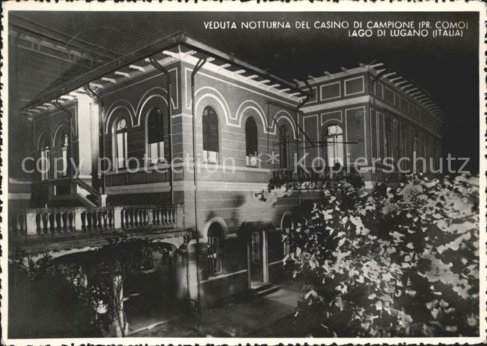 Campione d Italia Veduta notturna del Casino di Campione / Campione d Italia /Como