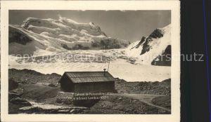 Cabane de Panossiere et Grand Combin Berghuette Walliser Alpen