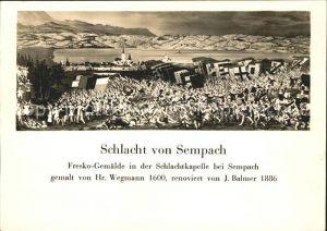 Sempach LU Schlacht von Sempach Kat. Sempach