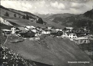 Wergenstein GR Ortsblick Schamserberg Kat. Wergenstein