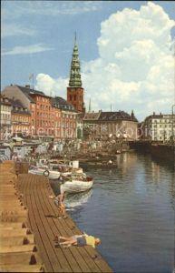 Kobenhavn Gammel Strand Boot Kirchturm Kinder Kat. Kopenhagen