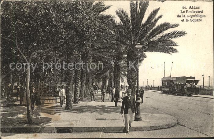 Alger Algerien Boulevard de la Republique et le Square / Algier Algerien /