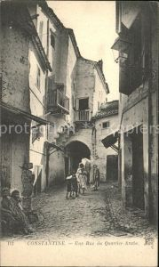 Constantine Une Rue du Quartier Arabe Kat. Algerien
