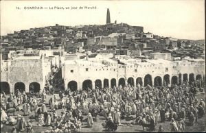 Ghardaia La Place Jour de Marche Kat. Algerien