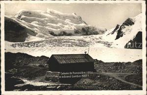 Cabane de Panossiere et le Grand Combin Kat. Grand Combin