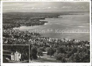 Rorschach Bodensee mit Blick auf Horn Arbon und Romanshorn Hotel Fuenflaenderblick / Rorschach /Bz. Rorschach