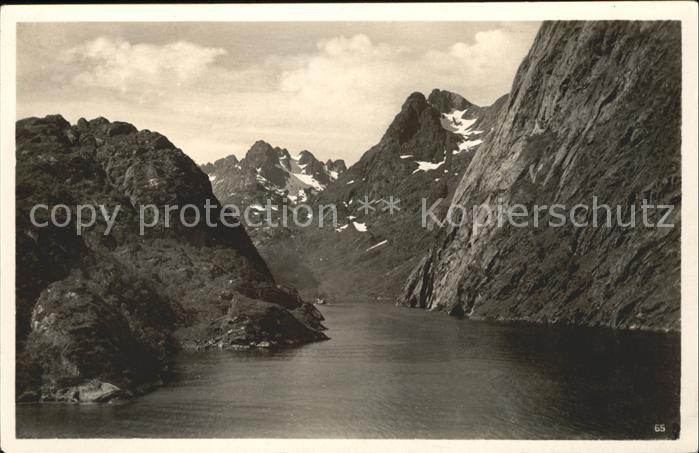 Norge Norwegen Fjordparti Berge Kat. Norwegen