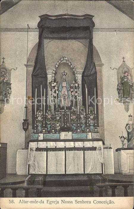 Angola Altar mor da Egreja Nossa Senhora Conceicao Kat. Angola