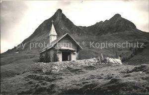 Drusberghuette Kapelle Kaesernalp am Drusberg Kat. Kaesernalp Unteriberg