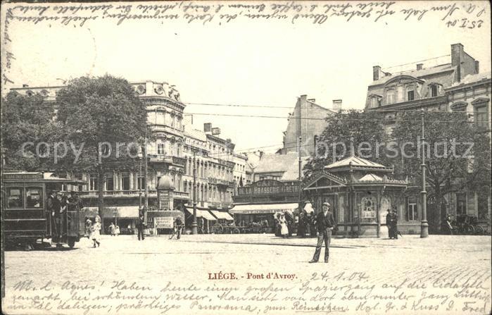 Liege Luettich Pont d Avroy Pavillon Kat. Luettich
