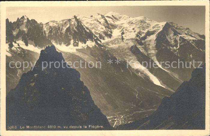 Montblanc Montblanc Massiv / Chamonix-Mont-Blanc /Arrond. de Bonneville