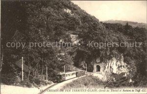 Territet Glion Chemin de Fer Sortie du Tunnel / Territet /Bz. Vevey