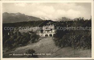 Spiez Thunersee BE Ferienheim Freyberg Hondrich / Spiez /Bz. Niedersimmental