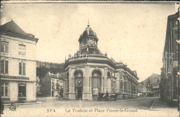 Spa Liege Le Pouhon et Place Pierre le Grand /  /