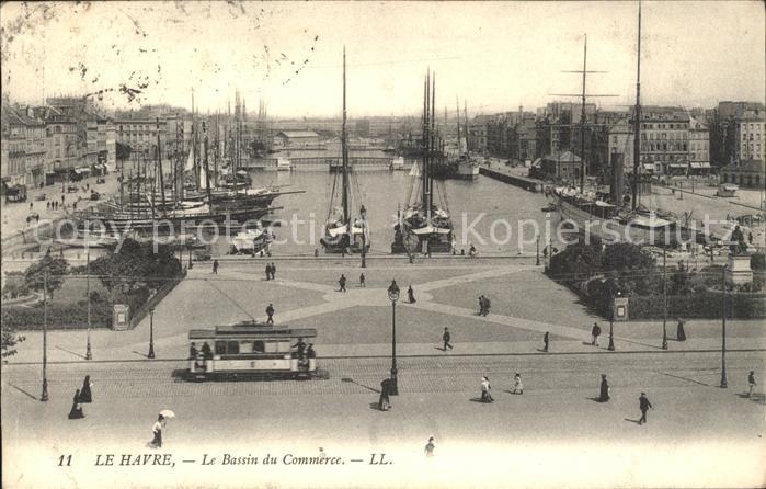 Le Havre Bassin du Commerce Bateaux Tram Kat. Le Havre