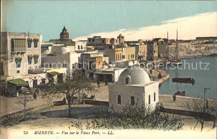 Bizerte Vue sur le vieux Port Kat. Tunesien