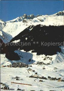 Segnes Disentis GR mit Skigebiet von Caischavedra / Disentis /Bz. Surselva