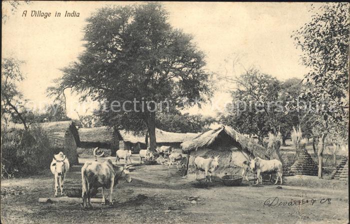 Indien A Village Kat. Indien