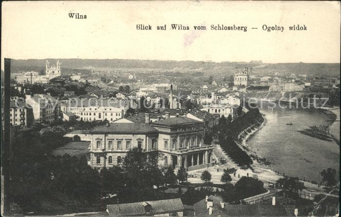 Wilna Blick Wilna vom Schlossberg  Kat. Litauen