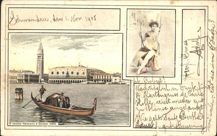 Venezia Venedig Gondola Gondel  Kat.