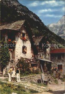 Ticino Tessin Motivo tipico ticinese Valle Verzasca Kat. Lugano