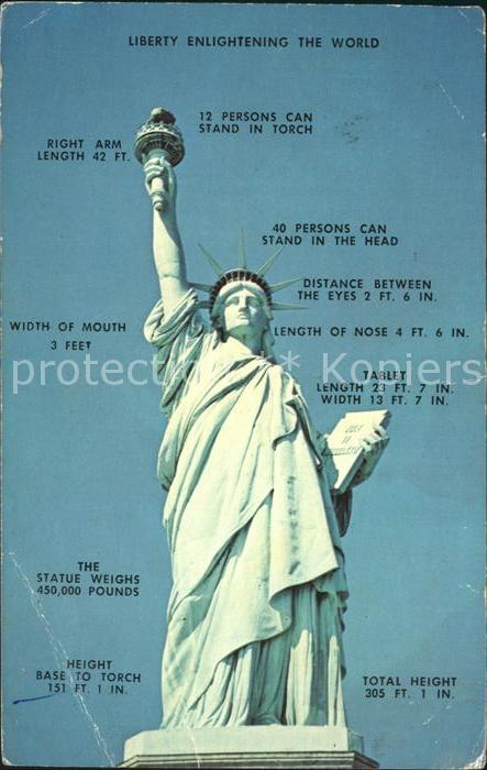 Statue of Liberty Liberty Island New York Kat. New York