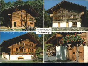 Brienz BE Freilichtmuseum Ballenberg Haus von Adelboden Haus von Brienz Haus von Mutten Kat. Brienz