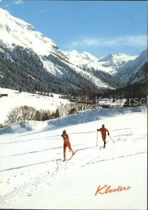 Klosters GR Mombiel Langlaufloipe Silvrettagletscher Kat. Klosters