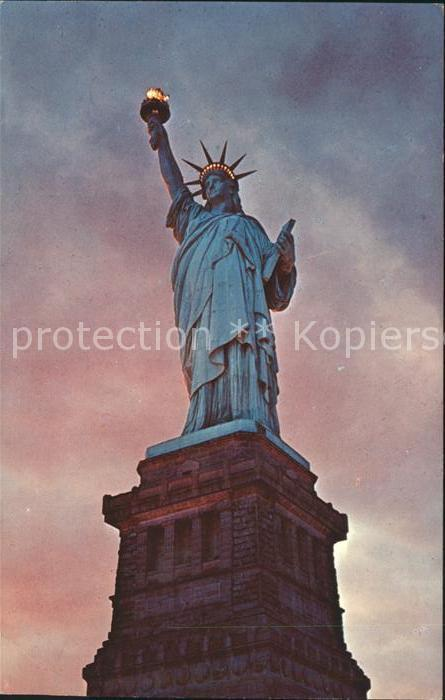 Statue of Liberty Liberty Island New York Harbor  Kat. New York