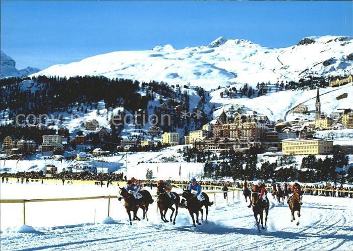 St Moritz GR Pferderennen im Schnee Kat. St Moritz