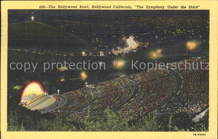 Hollywood California Bowl Freilichttheater Kat. Los Angeles United States