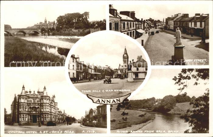 Annan Dumfries and Galloway High Street Monument Central Hotel St Johns Road Town Hall War Memorial / Dumfries & Galloway /Dumfries & Galloway