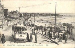 Le Havre Le Boulevard Maritime el la Nouvelle Jetee Kat. Le Havre