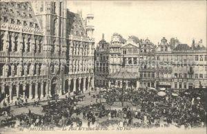 Bruxelles Bruessel Place de l Hotel de Ville Kat.