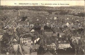 Besancon les Bains Vue generale prise de Saint Jean Kat. Besancon Doubs
