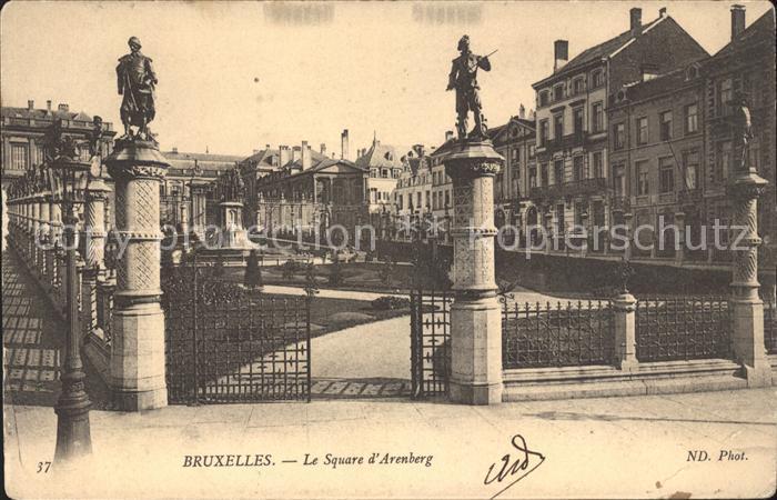 Bruxelles Bruessel Square d Arenberg Statue Kat.