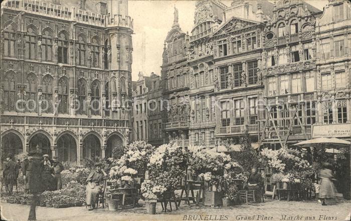Bruxelles Bruessel Grand Place Marche aux Fleurs Kat.