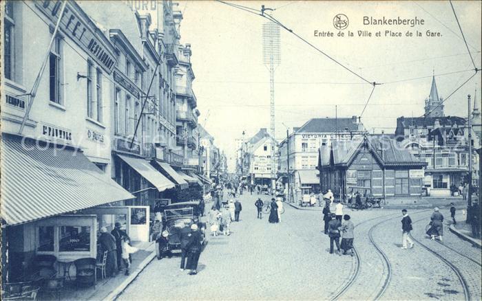 Blankenberghe Entree de la Ville et Place de la Gare Kat.
