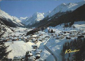 Klosters GR mit Selfranga Aeuja Monbiel Silvrettagletscher Kat. Klosters