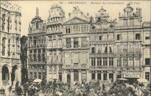 Bruxelles Bruessel Maisons des Corporations Kat.