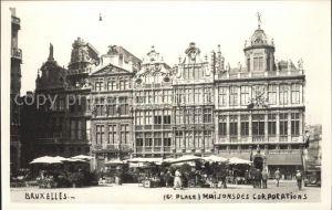 Bruxelles Bruessel Maisons des Corporations Marche Kat.