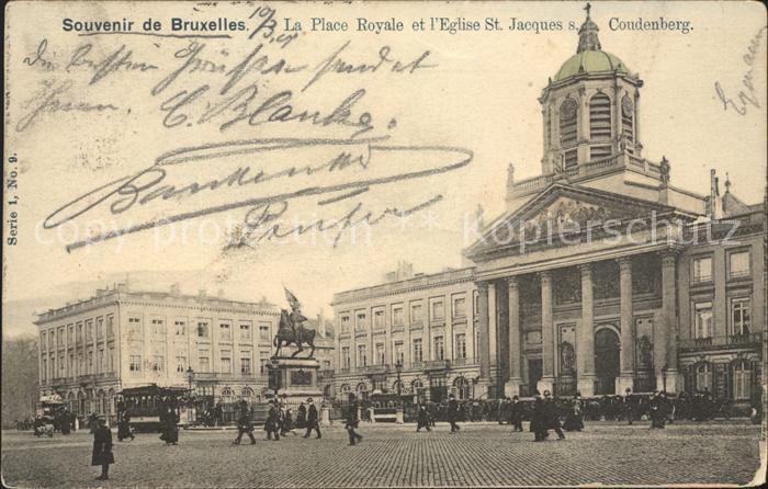 Bruxelles Bruessel Place Royale Eglise Saint Jacques sur Coudenberg Monument Wappen Kat.